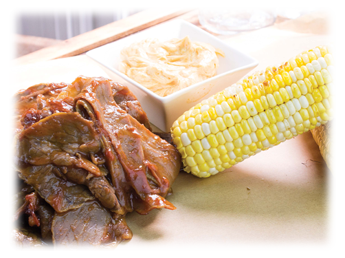 BBQ Brisket Platter with Wild West Sweet Corn