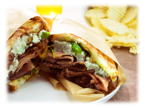 grilled cheese with roast beef