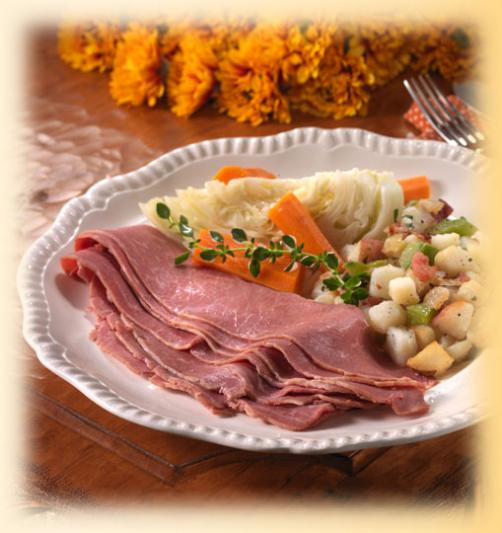 Corned Beef & Cabbage with Potatoes O'Brien