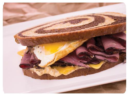 Charlie's Pride Pastrami & Egg Sandwich