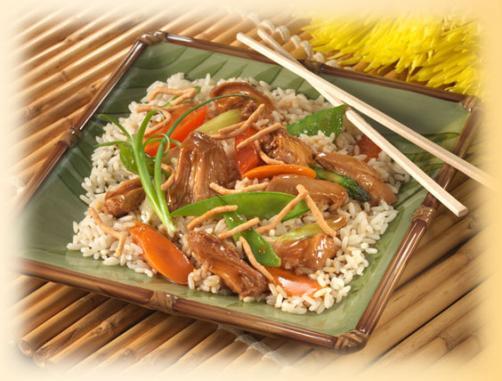 Chicken Teriyaki Stir Fry with Crisp Sesame Noodles